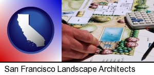 San Francisco, California - a landscape architect's backyard design drawing
